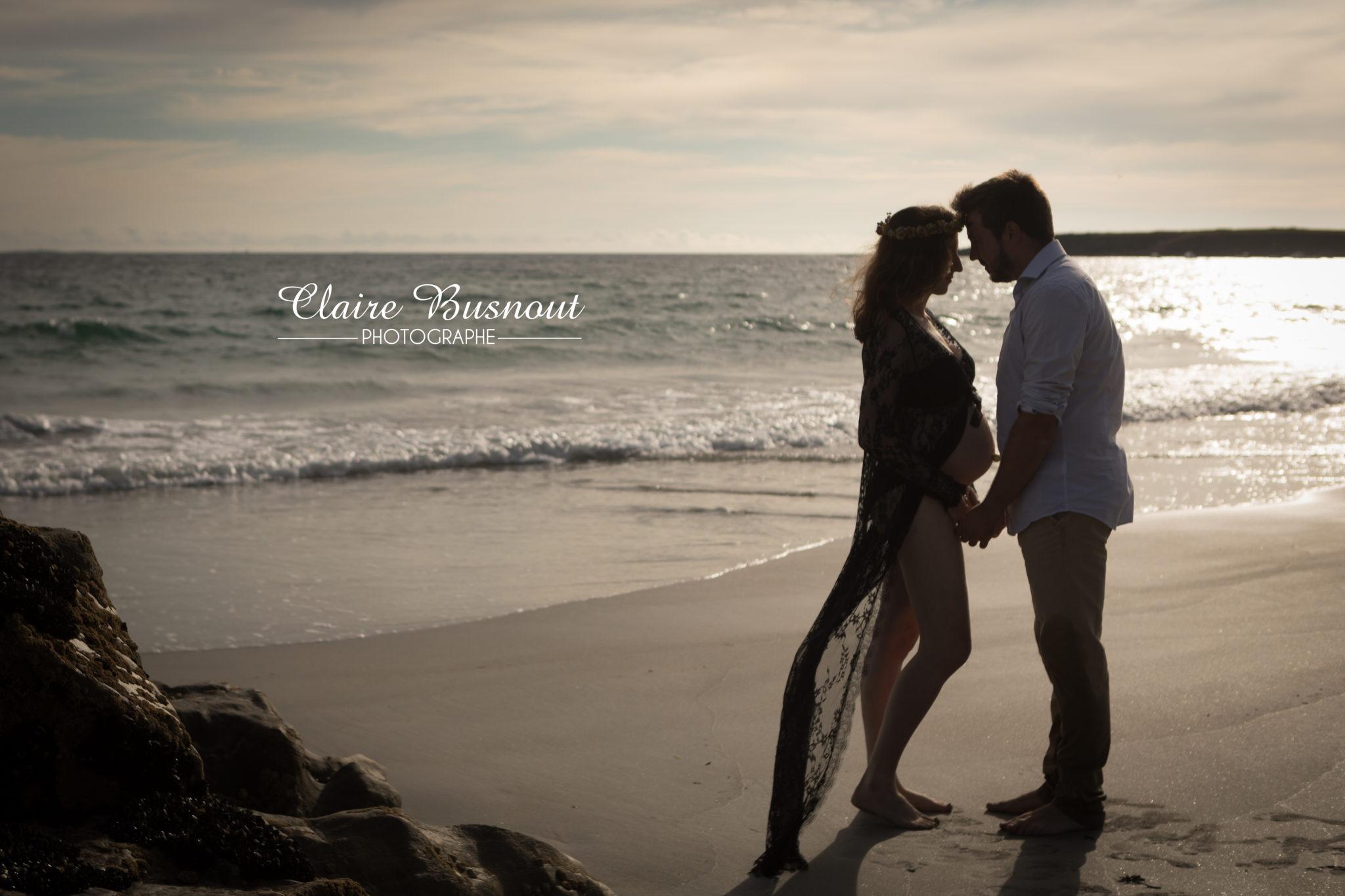 Photo de grossesse en extérieur ; Claire Busnout